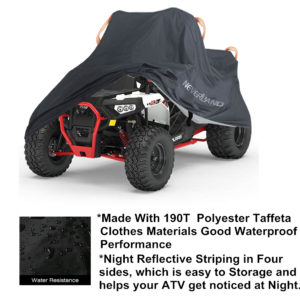 90T Waterproof Sun UV Dust Quad ATV Covers Coat For Sportsman Predator D35