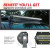 Quad Row Straight LED Light Bar for ATV 6